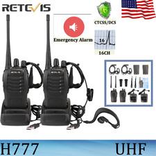 2Xretevis H777 WalkieTalkie 2-Way Radio Ctcss/Dcs Uhf Long Range Handheld Tot Us