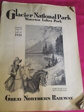 1931 Vintage Great Northern Railway Rate & Time Brochure Catalog June-Sept 15
