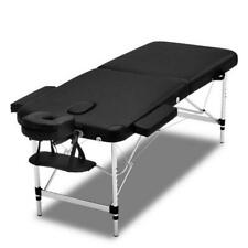 Zenses 2 Fold 55cm Portable Aluminium Massage Table - Black