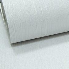 Plain White Silver Glitter Shimmer Textured Crystal Vinyl Neutral Wallpaper