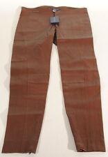 Ralph Lauren Brown Lamb Leather Skinny Pants Sz.12 29x29 Nwt $1298 C3A