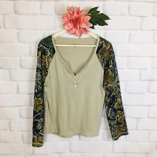 Cabela's Women's Tan Seclusion 3D Camouflage Long Sleeve Shirt Large Regular