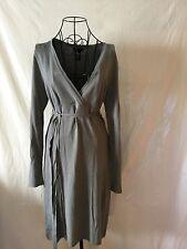 BCBG MAXAZRIA Gray Form Fitting Women's Dress (M)