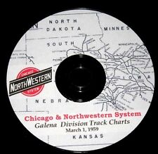 Chicago & Northwestern RR 1959 Galena Division Track Chart PDF Pages on DVD