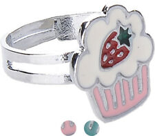 Cute Retro CUPCAKE Muffin 50s Ring Rockabilly Schmuck