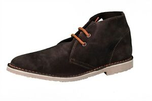 Roamers Ladies 2 Eyelet Suede Leather Desert Boots Brown