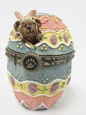 """Boyds Treasure Box #81501 """"Watson's Fabearlous Egg w/Peep McNibble""""  NIB MINT"""