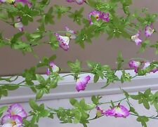 Set of 6 Artificial Morning Glory Flower Vines Hangings