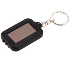 Mini Solar Power LED Light Keychain Torch Camping Outdoor Night Torch Flashlight
