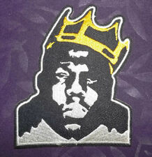 NOTORIOUS B.I.G. PATCH BIGGIE SMALLS BIGGIE EMBROIDERED HIP-HOP RAP DIY