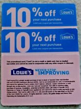 LOWES COMPETITORS 10% OFF COUPONS X 3 EXP 4-15-2019 HOME DEPOT- NOT AT LOWE'S