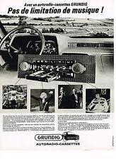 PUBLICITE ADVERTISING  1978    GRUNDIG   autoradio-cassettes