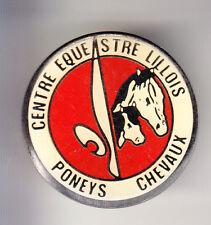 RARE PINS PIN'S .. SPORT CHEVAL HORSE HIPPISME PONEY CLUB EQUESTRE LILLE 59 ~BU