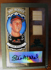 Stan Musial 2005 Hall Of Fame Heroes Green 6/10 Autographed Double Bat 1/1