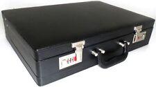 Quality Faux Leather Briefcase Business Executive Work Attache Case Bag Black