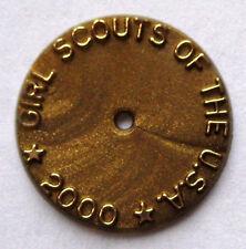 Girl Scout YEAR 2000 MILLENNIUM DISC Disk Attendance Membership Pin Back Button