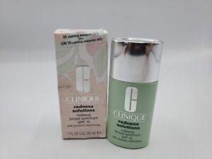 Clinique REDNESS SOLUTION Makeup CN20 Calming Fair Full Size 1oz/30ml