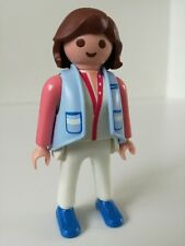 Playmobil Figure - Real Housewife / Mother in blue outfit (Loose)