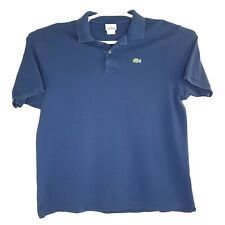 Lacoste Mens Size 7 XL Blue Short Sleeve Golf Polo Shirt 🐊 Alligator Logo EUC