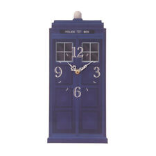 Blue Police Box Tardis Shaped Clock Designed by Ted Smith 35cm x 15cm Approx NEW