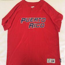 2013 World Baseball Classic Puerto Rico Authentic Majestic Jersey #2 Size 52