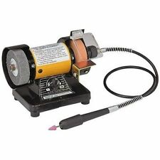 "3"" MINI MULTIFUNCTION BENCH GRINDER/BUFFER WITH FLEX SHAFT ATTACHMENT"