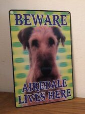 Attenzione Airedale Lives Here Sign in 3D