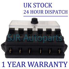 6 WAY UNIVERSAL STANDARD 12V 12 VOLT ATC BLADE SICHERUNGSDOSE/ABDECKUNG TRAKTOR