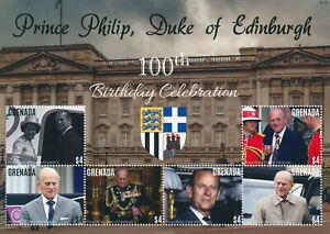 Grenada 2021 MNH Royalty Stamps Prince Philip Duke of Edinburgh 100th Bday 6v MS