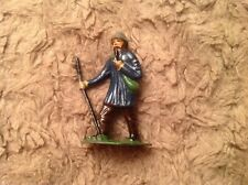 Vintage Rare 1950's Timpo? Lead Figure Of Farmer With Stick and Smoking A Pipe