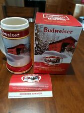 2019 Newest Budweiser Bud Anheuser Busch Holiday Christmas Stein New. Nib