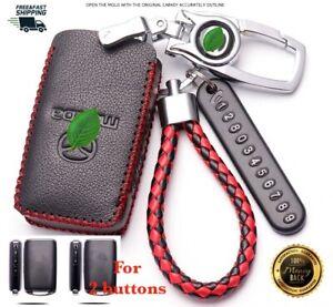 For Mazda 3 CX3 CX5 CX30 Car key case cover remote Geniue leather 2019-21 2 btns