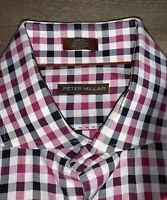 Awesome Peter Millar Men's Large Button Down Cotton Plaid Shirt Casual Or Golf