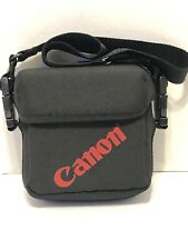 Vintage Black & Red Heavy duty Canvas Canon Camera Case with adj. strap
