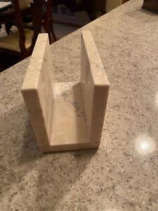 Cream Stone Napkin Holder Heavy