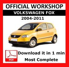 >> OFFICIAL WORKSHOP Manual Service Repair Volkswagen Fox 2004 - 2011