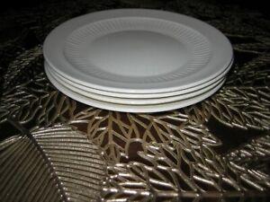 Lot (4) Real English Iron Stone Wm Adams & Sons England Dessert Plates
