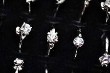 10Pcs Wholesale Jewelry Bulk Mixed Silver Plated Fashion Rhinestone Rings FREE