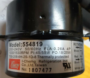 *I-Cherng CONDENSING FAN MOTOR 554819 (551819) 25W  Thermally protected( Taiwan)