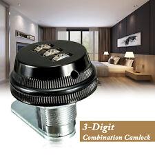 Code Combi Combination Cam lock Keyless Post Mail Box Cabinet RV 3 Dial Black