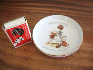 HOLLY HOBBIE by SANDS PORCELAIN PIN DISH HAPPINESS IS HAVING SOMEONE TO CARE FOR