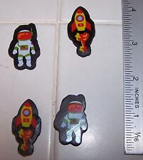 4 Count HOT ASTRONAUT & Rocket Space Ship ERASERS