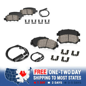 Front And Rear Ceramic Brake Pads For 2004 Mercedes-Benz E320 Wagon 4Matic