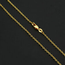 Wholesale 1PCS 16-30inch Wholesale Jewelry 18K GOLD FILL ROLO Chain Necklaces