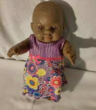"Unusual Silicone African American Girl Baby Doll. 9"". Anatomically correct"