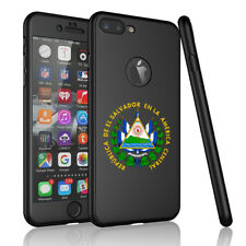 For iPhone 360° Thin Case Cover + Screen Protector El Salvador Escudo Coat Arms