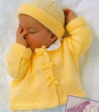 Baby knitting pattern CARDIGAN  Sweater  Bolero & Hat 8 Ply