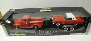 NEW MOTORMAX 1:24 Scale American Classics Red Ford Pickup & Thunderbird