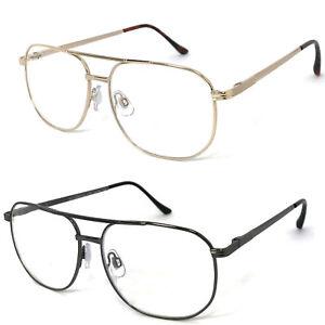 1 or 2 Pairs Metal Frame Large Pilot Full Lens (Not Bifocal) Reading Glasses