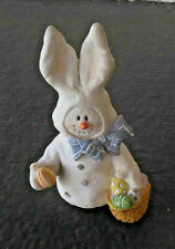 Snowonders Collectible April Hopper Easter Basket Bunny Sarah'S Attic 6403